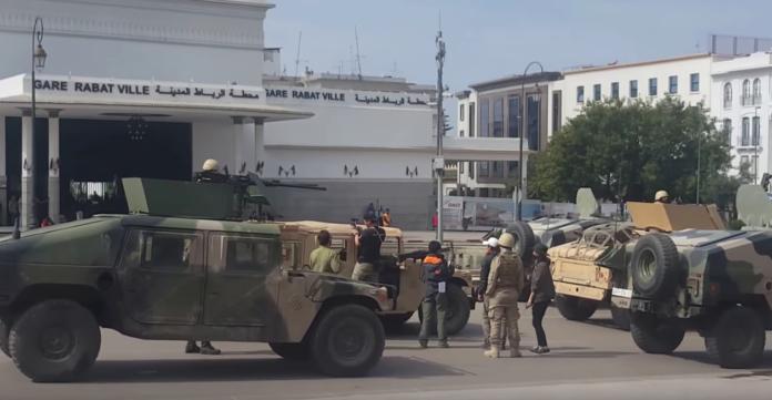 Marokkos Hauptstadt von Soldaten