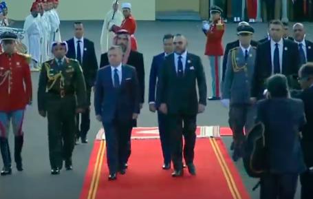 König Abdullah II. von Jordanien in Marokko