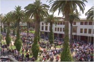 Hauptstadt Rabat Marokko Demonstrationen